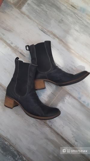 Итальянские кожаные ботинки, 40 р-р, б/у