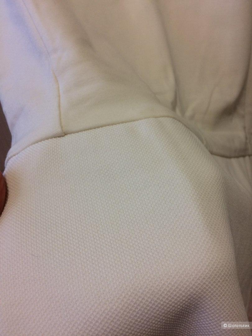 Кремовое фактурное платье Манго 46разм