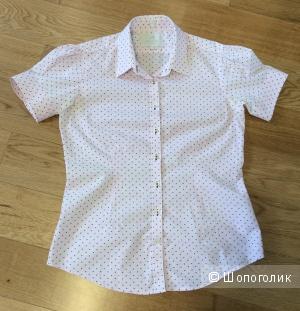 Отличная летняя рубашка для офиса Sacoor Brothers р. 42 (на росс. 46)