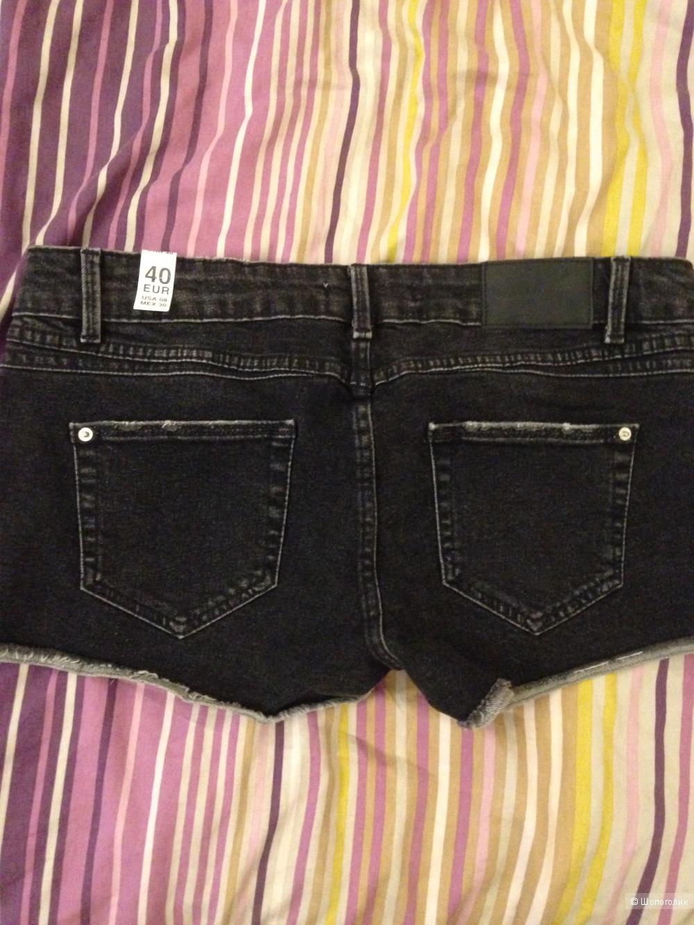 Шорты чёрные Zara 46 размер