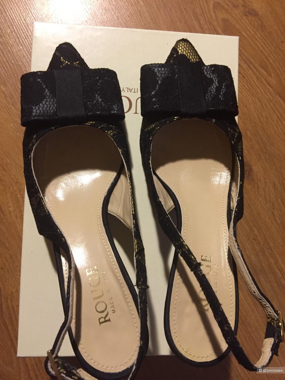 Гипюровые туфли с открытой пяткой 38