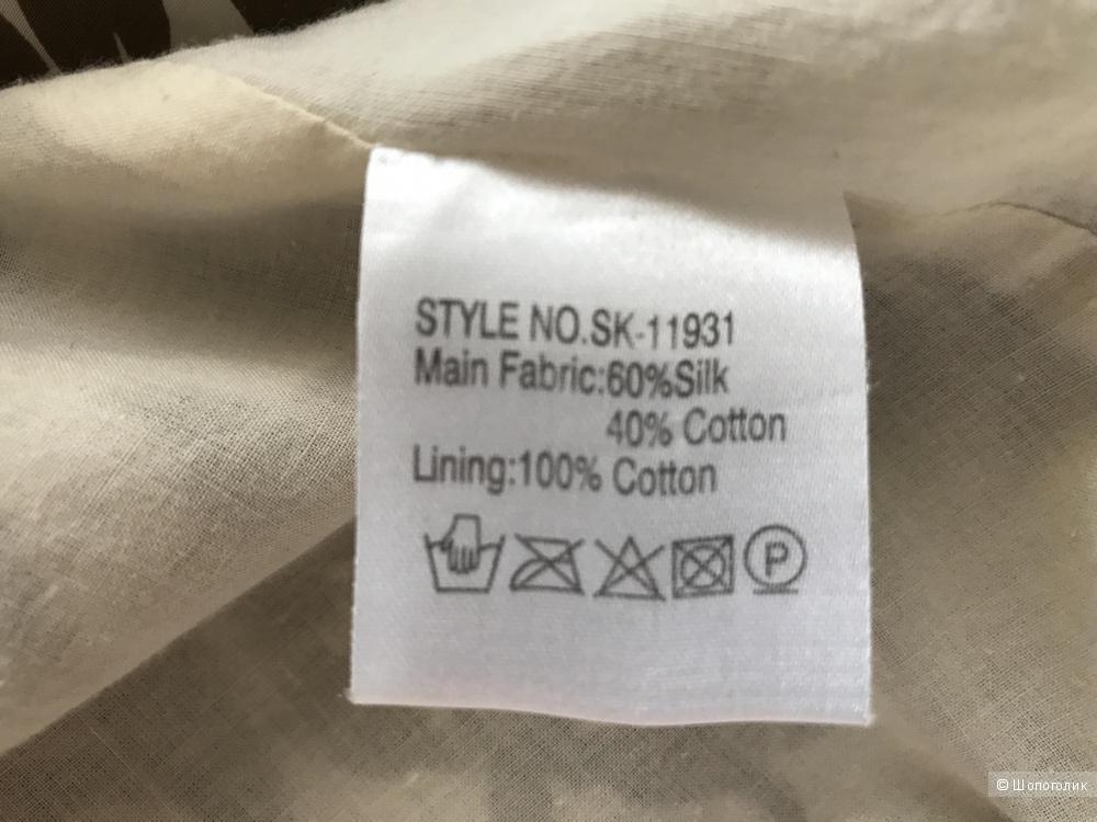 Летняя шелковая юбка 46-48 рр