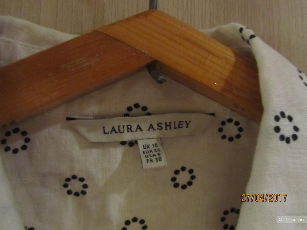 Новая льняная блузка дорогого английского бренда LAURA ASHLEY в размере 10юк или 42-44 или S