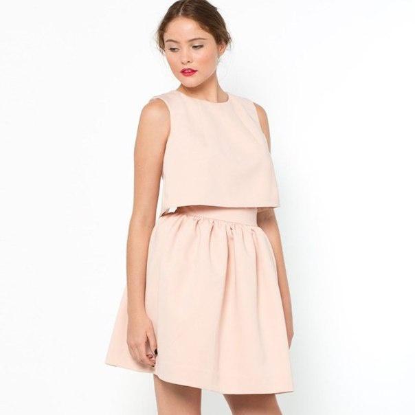 Платье цвета Nude oригинального кроя