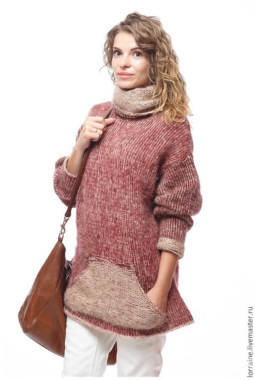 Новый теплый свитер, размер S-L