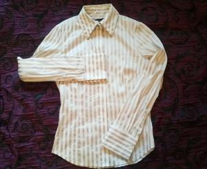 Рубашка женская WE приталенная размер 44 в полоску