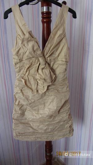 Золотистое платье BCBG Max Azria размер US 6