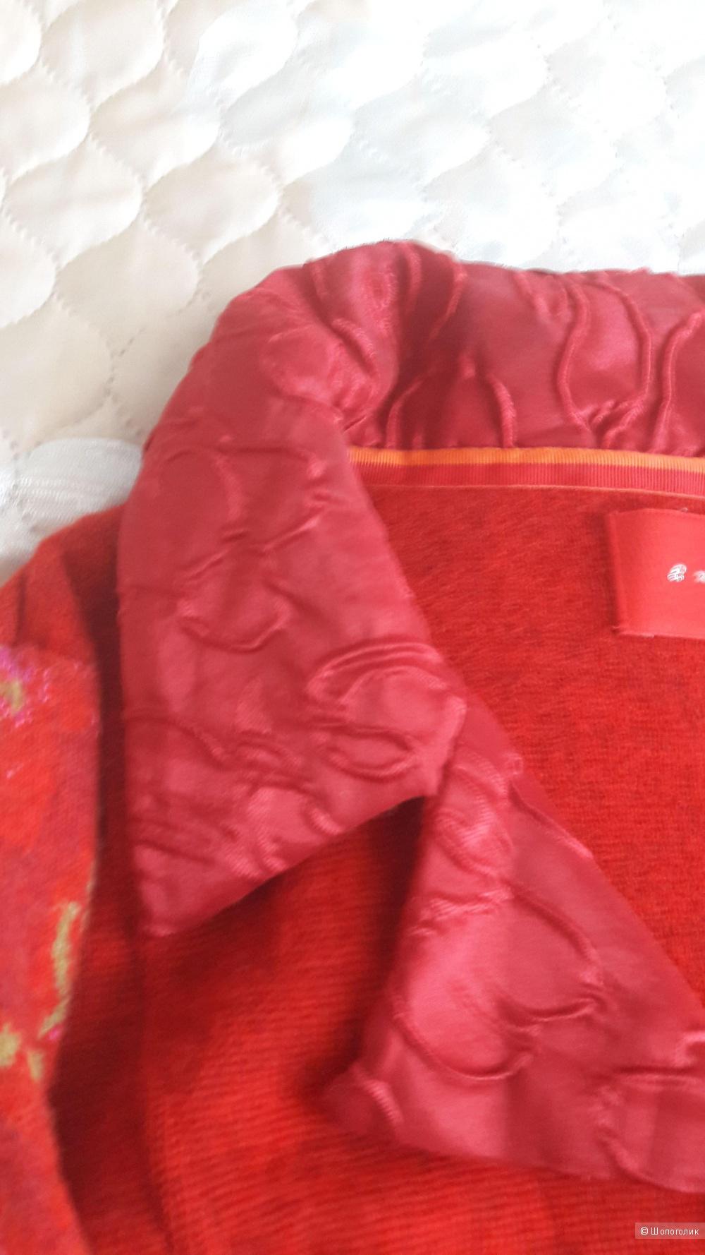 Кардиган-пальто на молнии шерсть Eva & claudi размер m