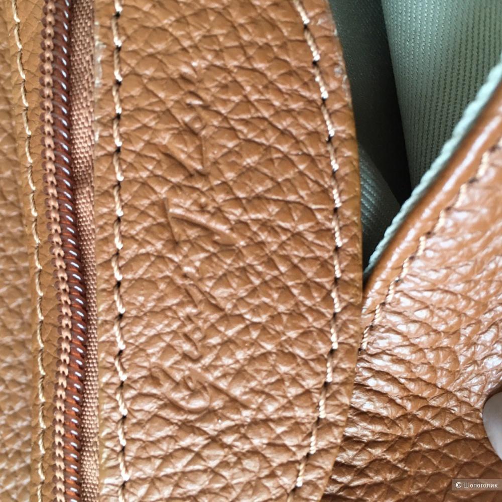 Сумка коричневая натуральная кожа GEORGE J. LOVE, Италия ручной работы.