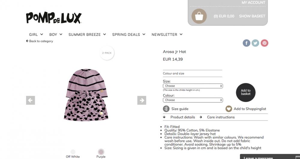 Новые шапочки Pompdelux