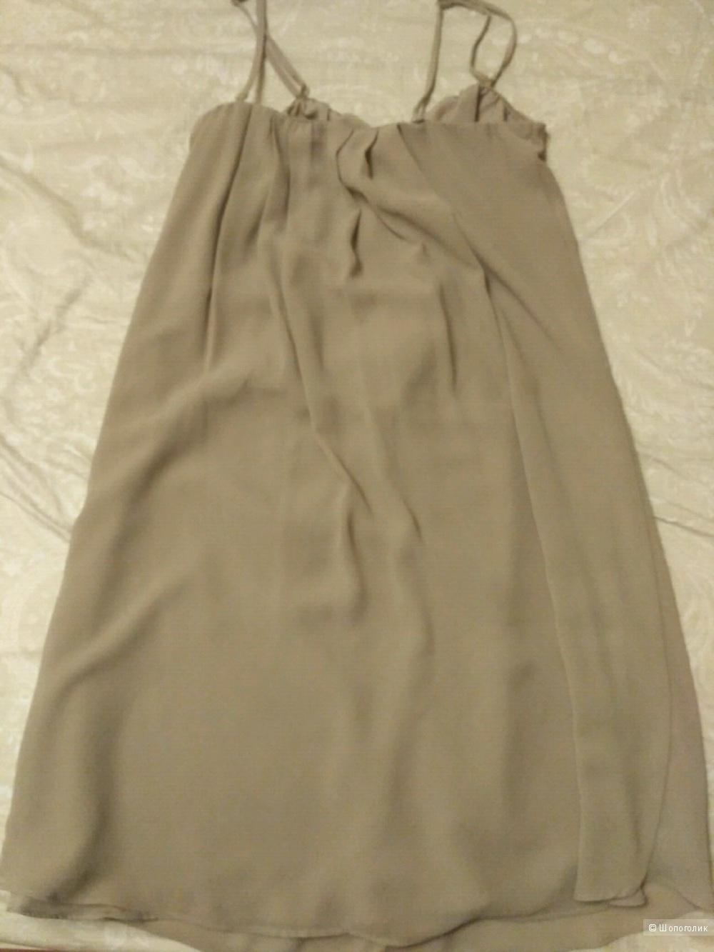 Платье бежевое летнее Кира Пластинина, размер 44-46
