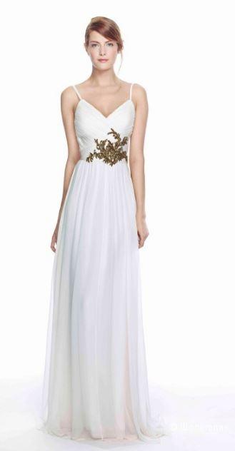 Шёлковое вечернее платье Marchesa Notte цвета слоновой кости, 6US