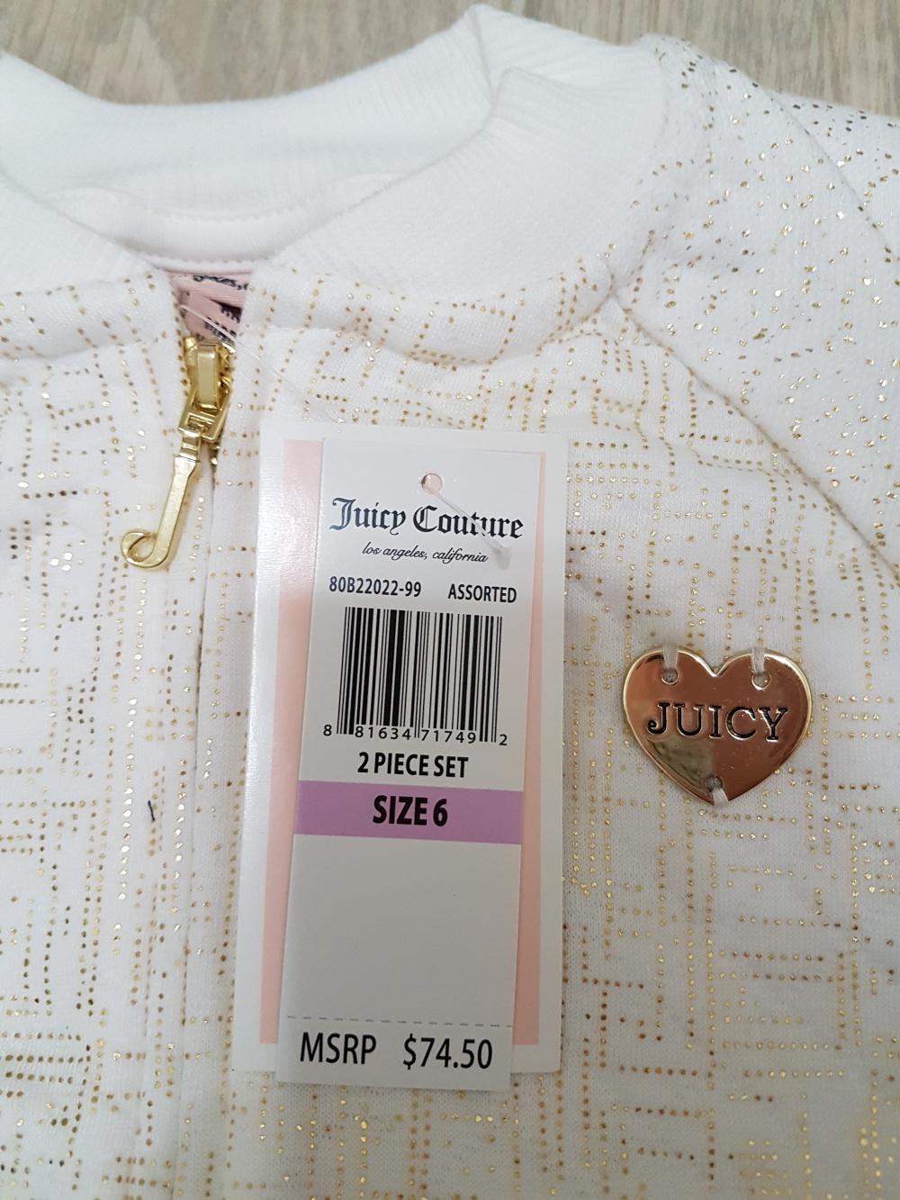 Juicy Couture костюм для девочки, на рост 114-122 см