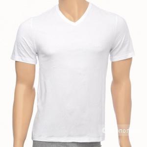 Белая базовая футболка Hugo Boss, хлопок, размер S.