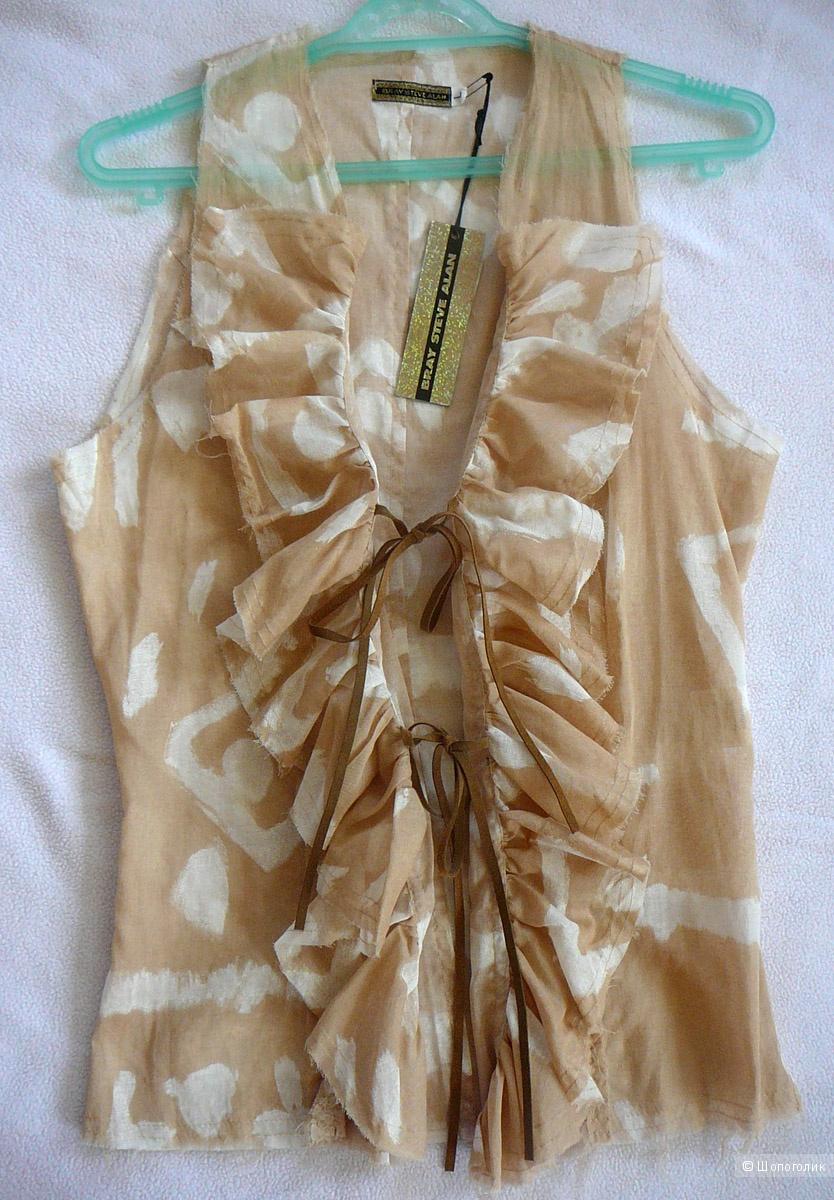 Дизайнерская блузка-жилетка Bray Steve Alan р 42