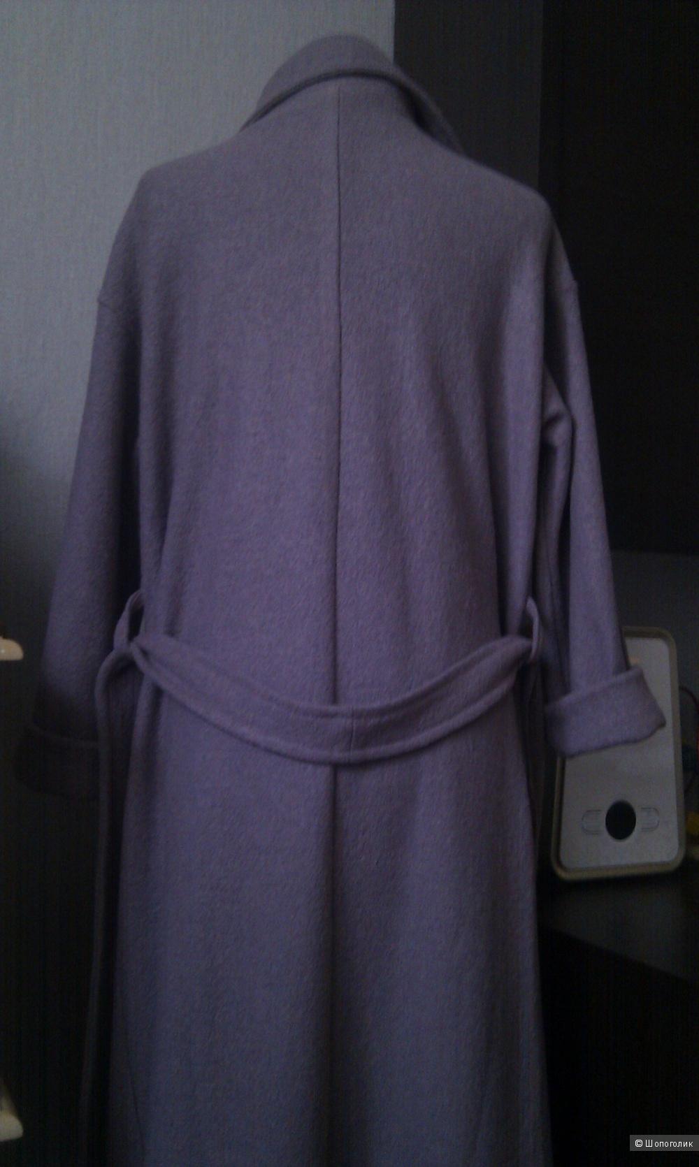 Женское шерстяное пальто оверсайз, от 42 до 46 размера
