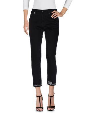 Черные джинсы MM6 BY MAISON MARGIELA размер 40IT