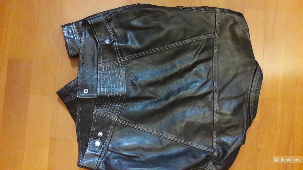 Кожаная куртка Франция размер 48