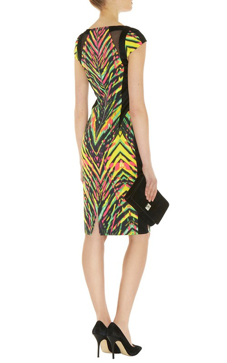 Платье  Karen Millen UK 14 (рус.46) (маломерит) Multi Signature Stretch Statement Zig Zag Pencil Dress