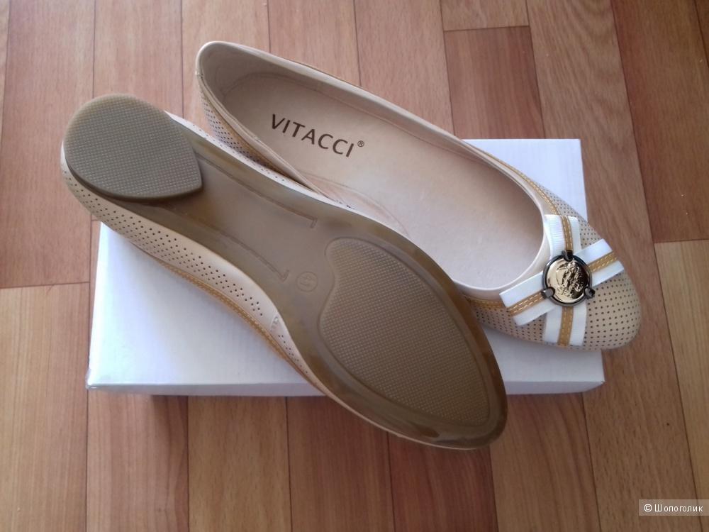 Новые кожаные балетки Vitacci