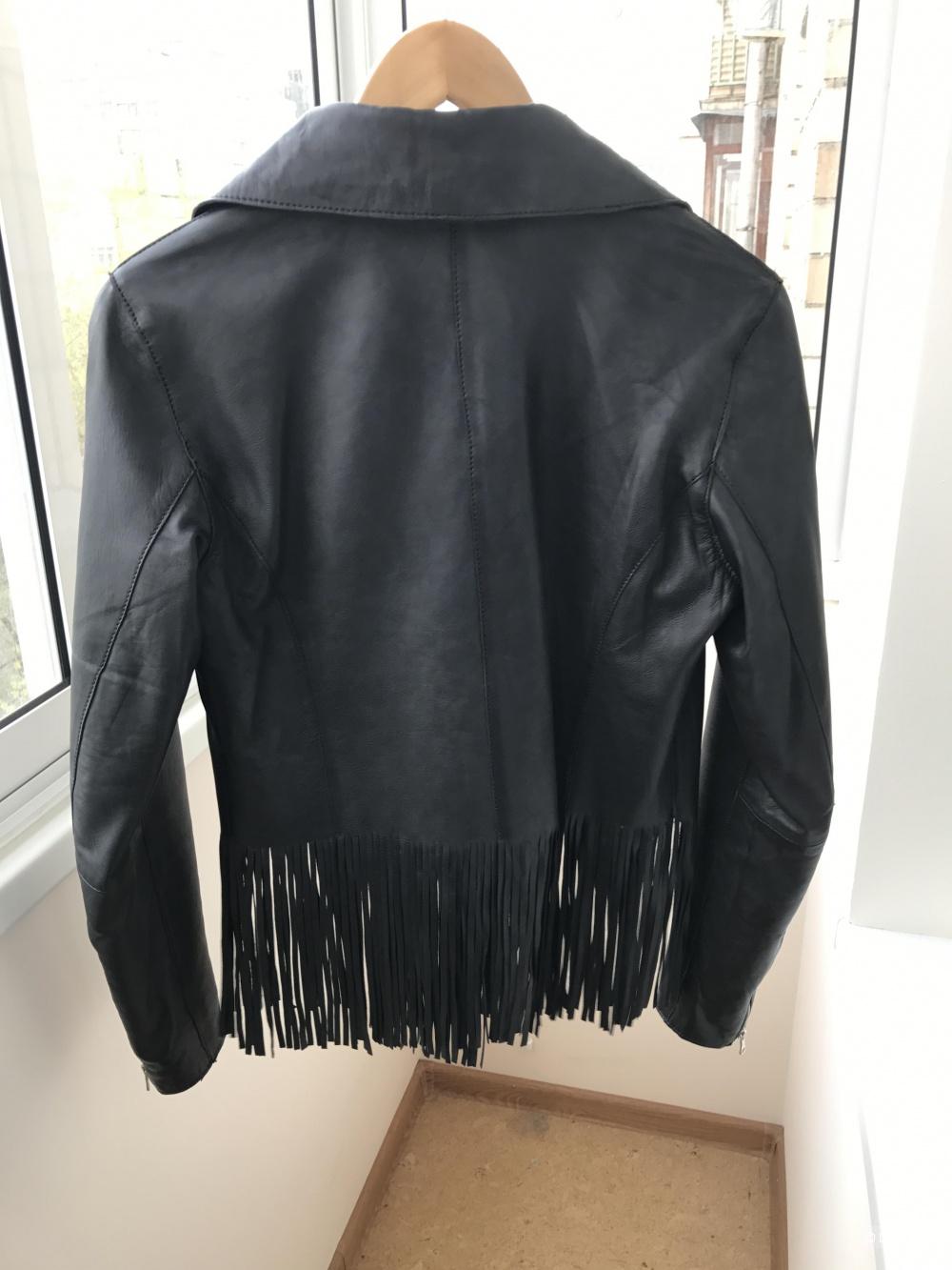 Кожаная куртка Massimo Dutti (размер M)