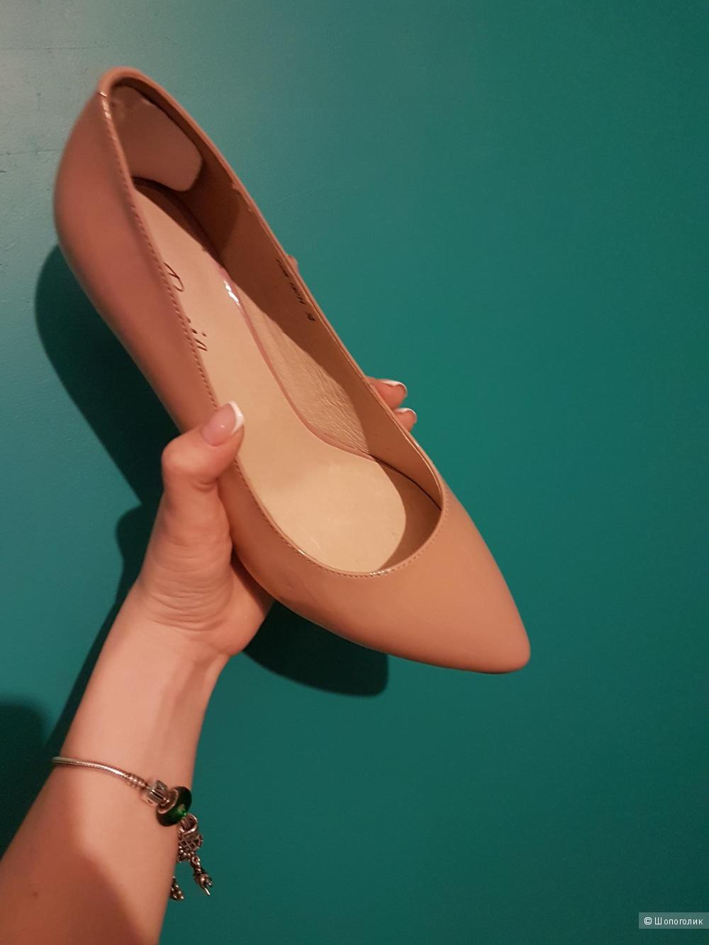 Кожаные бежевые туфли ручной работы от известного продавца на Али.