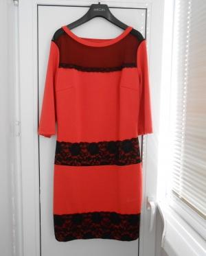 Коралловое платье LAVINA р.44-46.