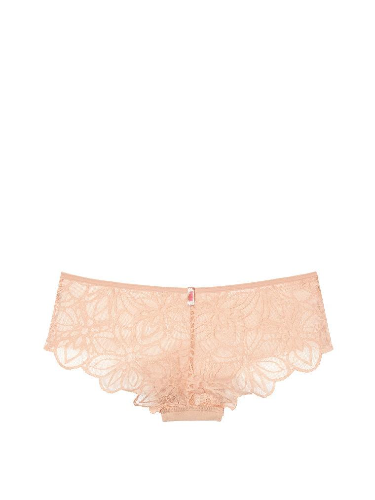 Victoria's Secret трусики бежевые, размер XS, Lace Back No-Show Cheekster