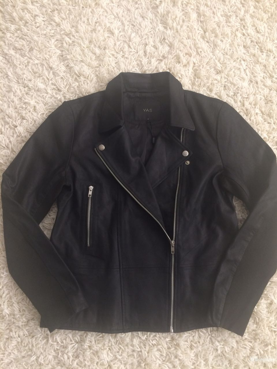 Кожаная байкерская куртка Y.A.S Sophie, 46-48 размер.