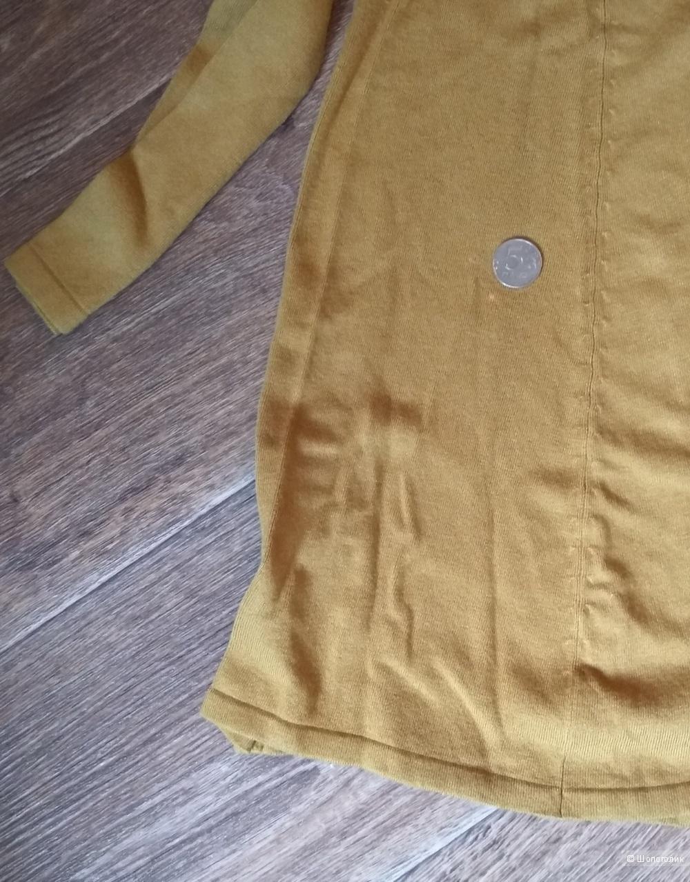 Длинное горчичное платье, ZARA, р-р 44-46