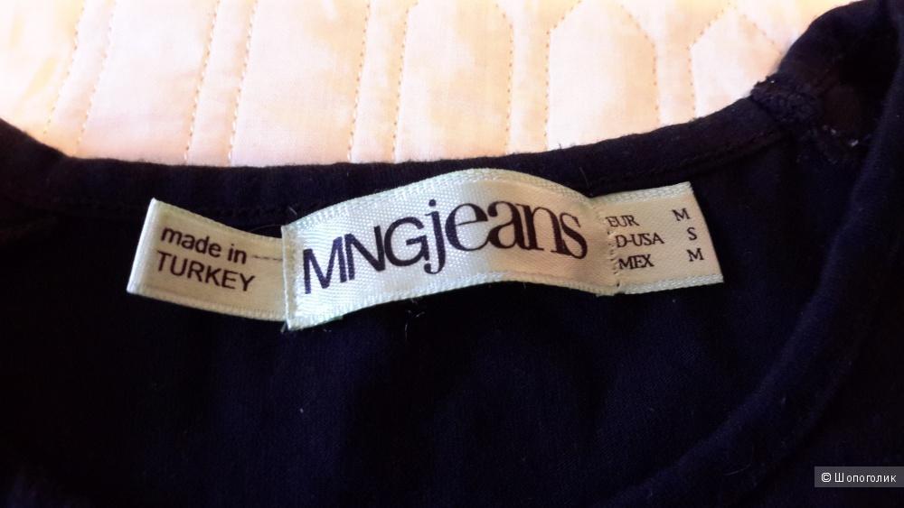 Необычная футболка Mango размер S/M на наш 42-44 черного цвета