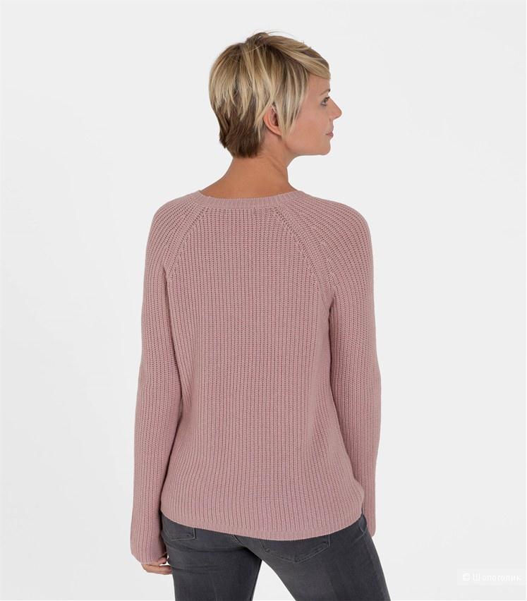 Woolovers Новый Женский свитер с косами из кашемира и шерсти мериноса, размер L