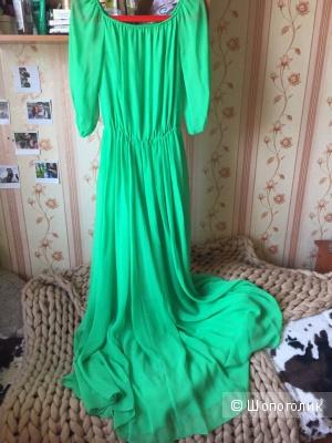 Зелёное платье в пол Love Republic