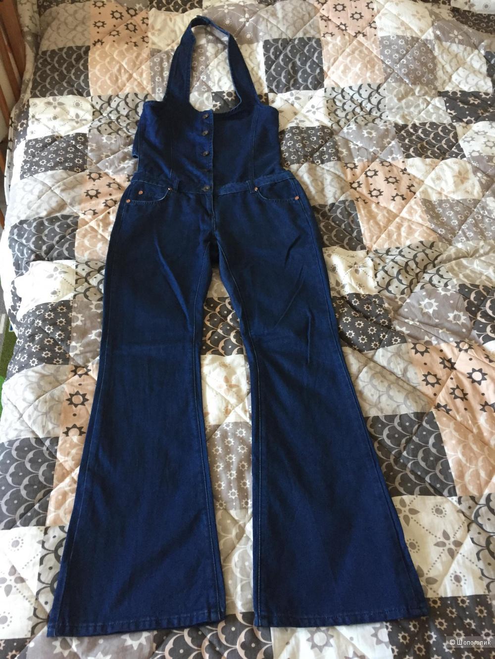 Комбинезон джинсовый, размер 10 UK, цвет Indigo