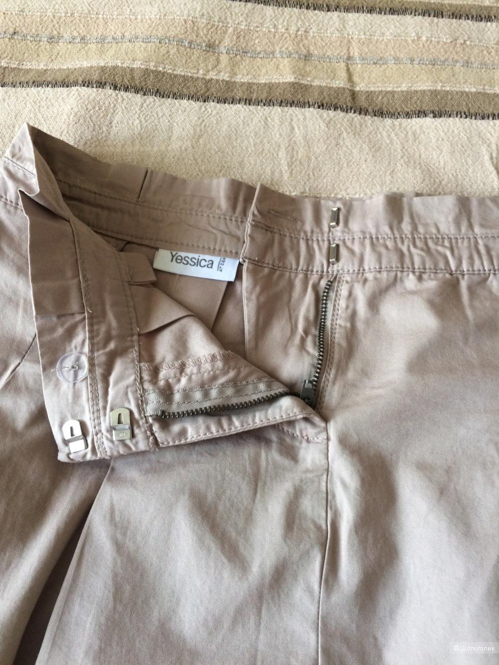 Бежевая юбка из хлопка Yessica, размер 36-38