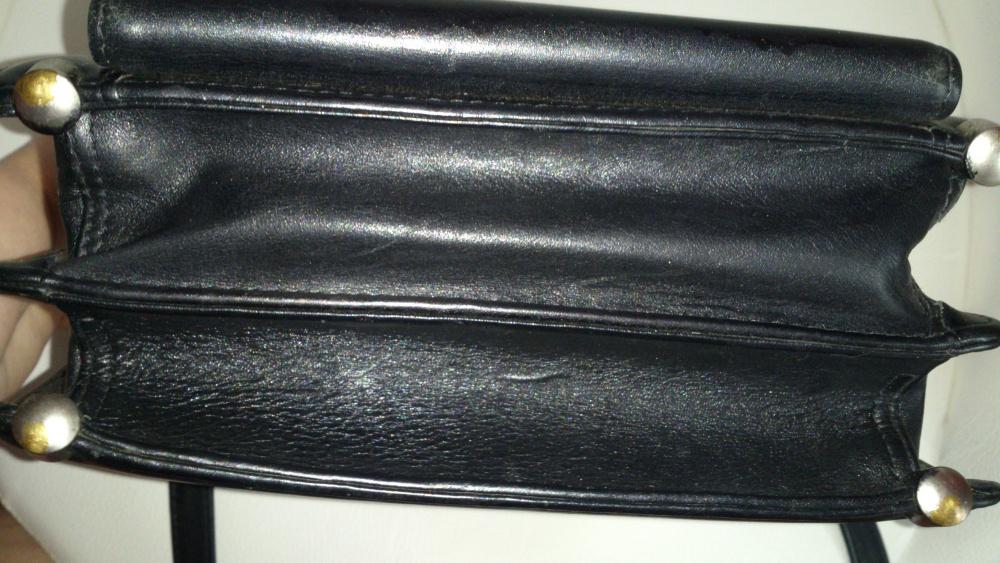 Сумка мужская Petek, гладкая черная кожа