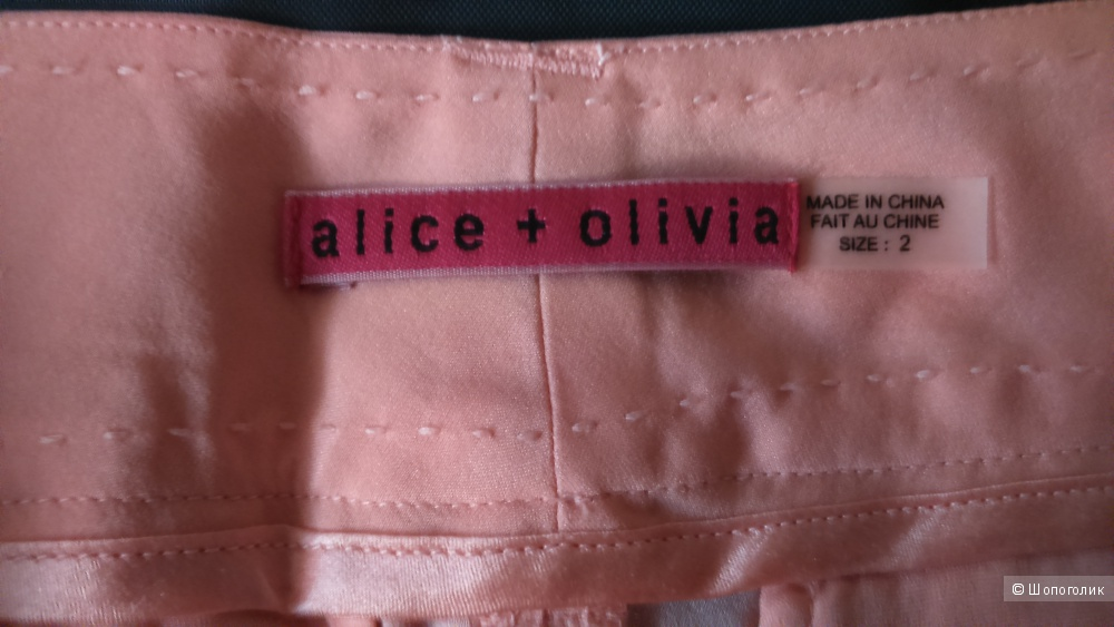 Брюки новые шелковые  Alice + Olivia US2 (но можно и на 4)