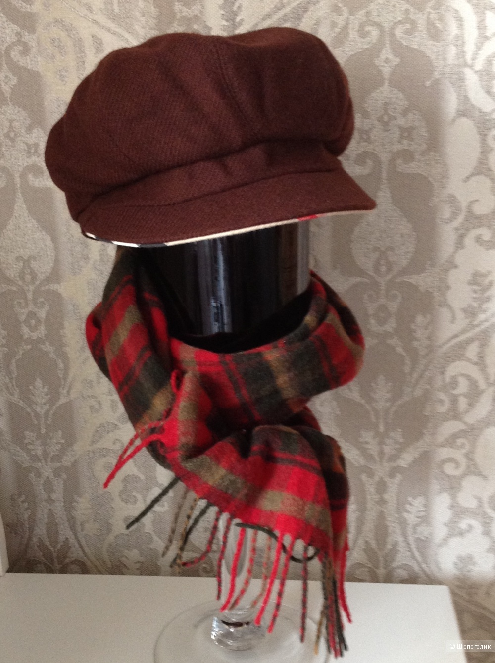 Кепка гаврош Burberry из шерсти и кашемира. Размер 55-56 см.