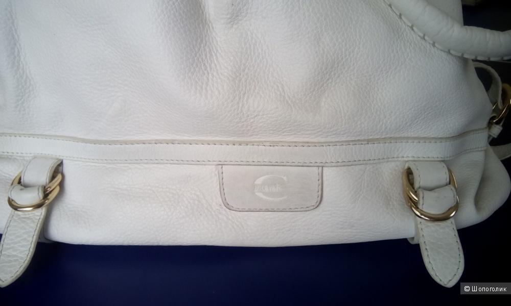 Большая вместительная сумка натуральная кожа Just Cavalli