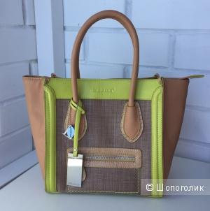 Сумка Bulaggi the bag, бежевый желтый с отделкой из соломы летняя