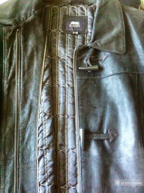 Пальто утепленное 100% кожа( замша) D'AUVRY EXCLUSIVE, 48-50-52rus