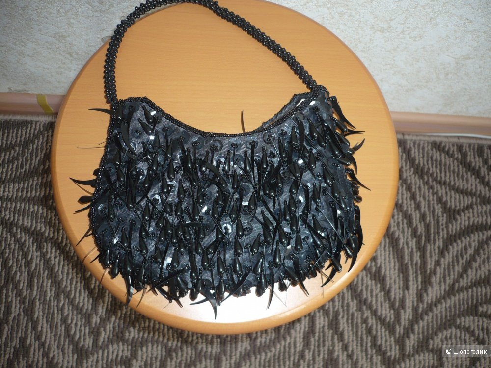 Вечерняя сумочка с бисером ручной работы