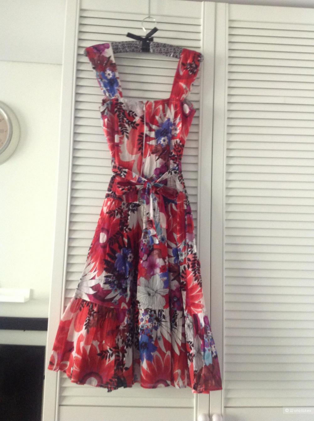 Платье из жатого хлопка, копия Dolce &Gabbana, 42 размер