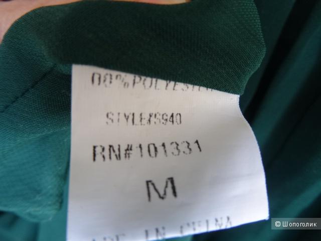 Сарафан из шифона бутылочного цвета, размер 44-46,б/у