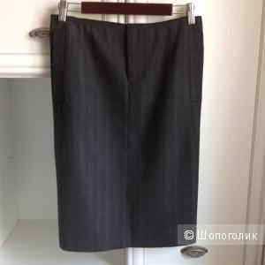 Шерстяная юбка-карандаш немецкого премиум бренда Dorothee Schumacher, размер S на 44.