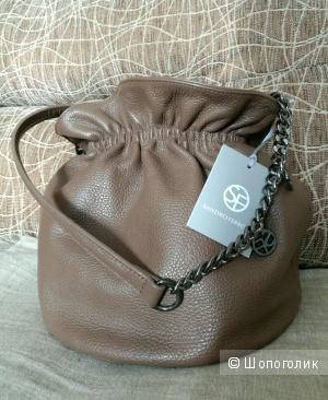 Итальянская кожаная сумка SANDRO FERRONE