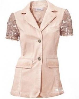 Жакет розовый с кружевными рукавами  TESINI с Корсо, 36 eur