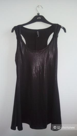 Платье коктейльное цвета горький шоколад CRAZYWORLD размер M(38-40)
