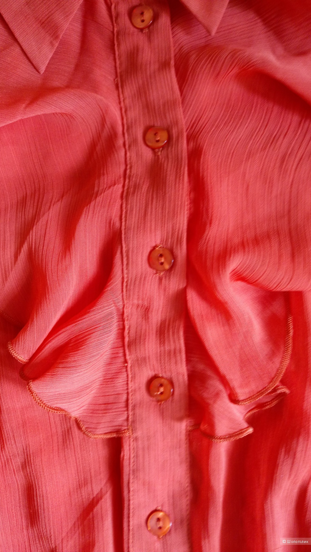 Красивая блузка жабо размер 42