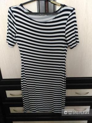 Летнее полосатое платье, размер 40-42